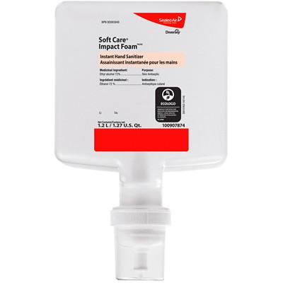 Diversey Soft Care Impact Foam Instant Hand Sanitizer, 1.2 L, 6/CS IMPACT FOAM SANITIZER