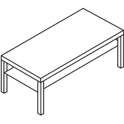 "Basyx Laminate Coffee Table, Black  2"" THICK TOP  LAMINATE 42""L X 20""W X 16""H"