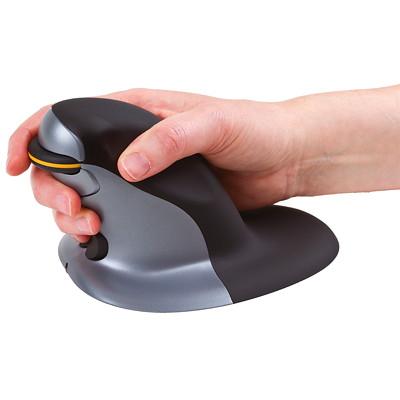 Fellowes Penguin Ambidextrous Vertical Mouse, Wireless ENCOURAGES MORE ERGO POSITION PREVENTS REPETITIVE STRAIN