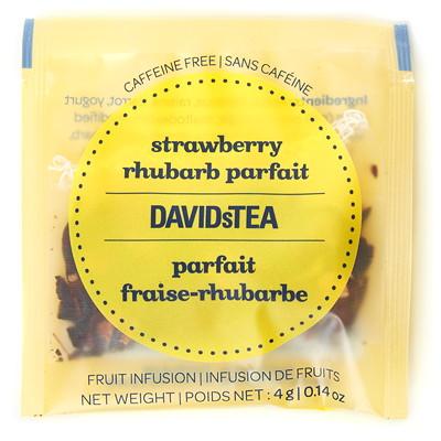 DAVIDsTEA Sachets Boxed Tea, Strawberry Rhubarb Parfait, 25/Box