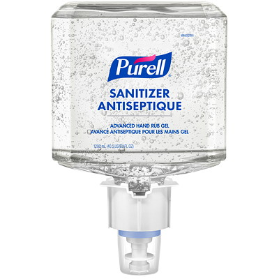 Purell Professional Advanced Hand Sanitizer Fragrance-Free Gel, For ES4 Dispensers, 1,200 mL, 2/CT