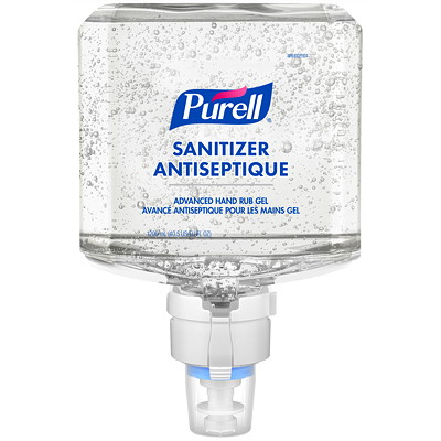 Purell Professional Advanced Hand Sanitizer Fragrance-Free Gel, For ES8 Dispensers, 1,200 mL, 2/CT