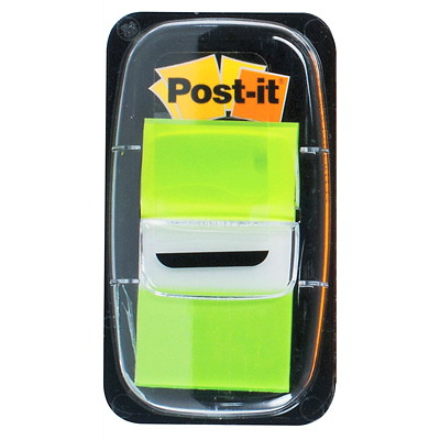 "Post-it Standard Flags, Bright Green, 1"" x 1 7/10"", 50/PK 50 FLAGS/EACH 3M 1X1.7 IN"