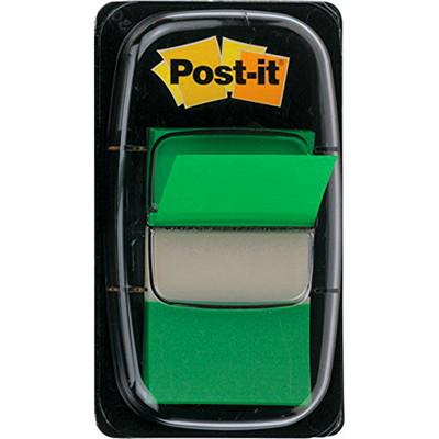Languettes adhésives Post-it, vert, 1po x 17/10po, 50 languettes AMOVIBLES TRANSP. MARQUENT SANS MASQUER  50/DISTRIB.