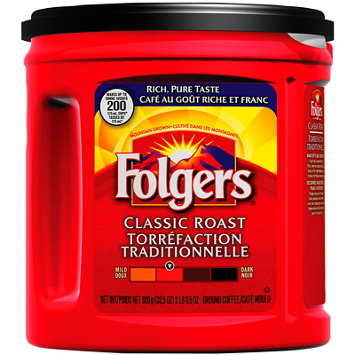 Folgers Ground Coffee, Classic Roast, 920 g