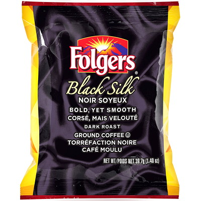 Folgers Ground Coffee Portion Packs, Black Silk, 1.4 oz, 42/BX  42 X 1.4OZ