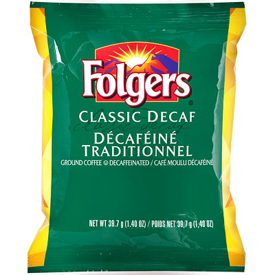 Folgers Ground Coffee Portion Packs, Classic Decaf, 1.4 oz, 42/BX  42 X 1.4OZ