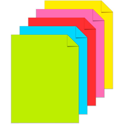 "Neenah Astrobrights Cover Paper, ""Party"" 5-Colour Assortment, Letter-Size, FSC Certified, 65 lb., Ream PARTY COLS 100/PK FSC & GREEN SEAL CERTIFIED"