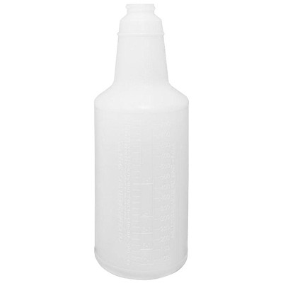 Globe Commercial Products Spray Bottle with Graduations, 24 oz Capacity WITH GRADUATIONS 24OZ CAPACITY HIGH DENSITY POLYETHYLENE