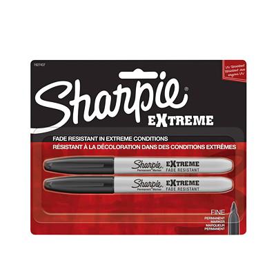 Sharpie Extreme Permanent Markers, Black, Fine Tip, 2/PK PERMANENT MARKER