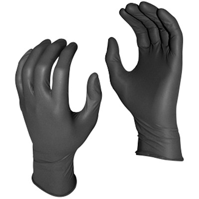 Watson Gloves Grease Monkey Disposable Nitrile Gloves, 5 Mil, Large, Black, 100/BX NITRILE  5 MIL  BLACK LARGE