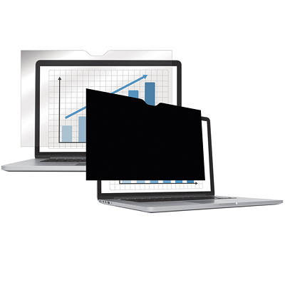 """Fellowes PrivaScreen Blackout Privacy Filter, 14.1"""" Wide LAPTOP/FLAT PANEL-BLACK OUT"""