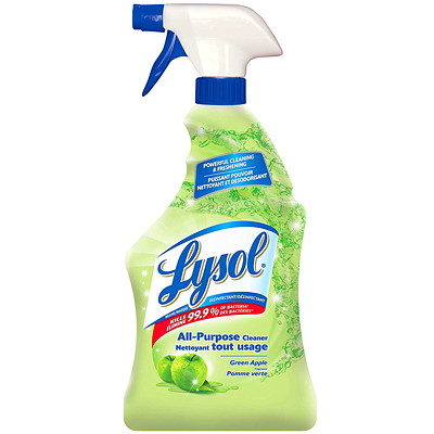 Lysol All Purpose Cleaner, Green Apple Scent, 650 mL  LYSOL
