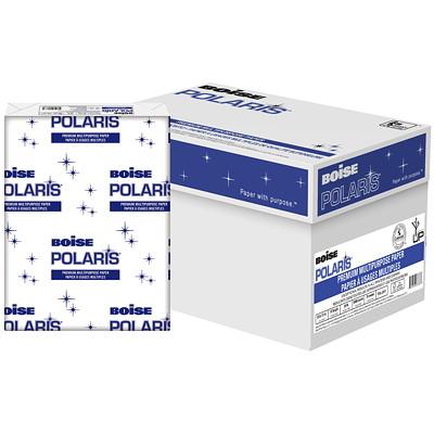 "Boise Polaris Premium Multi-Purpose Paper, FSC Certified, 24 lb., 8 1/2"" x 11"", Ream  BOISE"