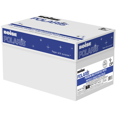 "Boise Polaris Premium Multi-Purpose Paper, FSC Certified, 20 lb., 8 1/2"" x 11"", Ream  BOISE"