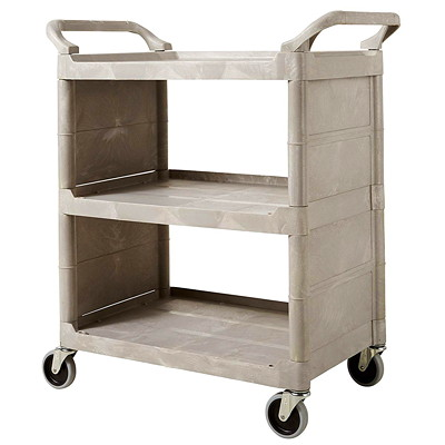 Rubbermaid Commercial 3355-88 Utility Cart with Swivel Casters and End Panels, Platinum, 300 lb Capacity 371/2''H X 31''L  PLATINUM N.L X 37-1/2IN.H  PLATINUM