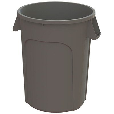 Globe Commercial Products Waste Container, Grey, 32-Gallon Capacity  COMMERCIAL GRADE CONSTRUCTION
