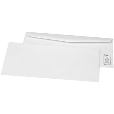 SupremeX Business Envelopes, Open Side, White Wove, #8, 1,000/BX 24LB  WHITE WOVE FSC PAPER 1000/BOX