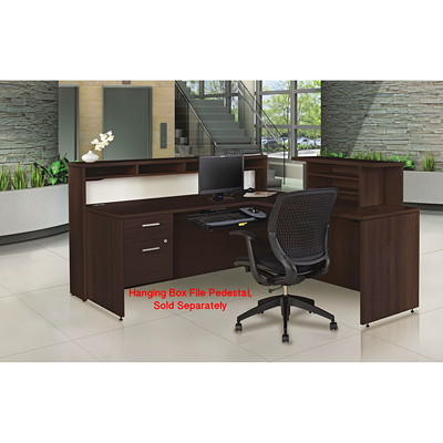 Offices To Go Ionic Reception Desk, Dark Espresso  DES
