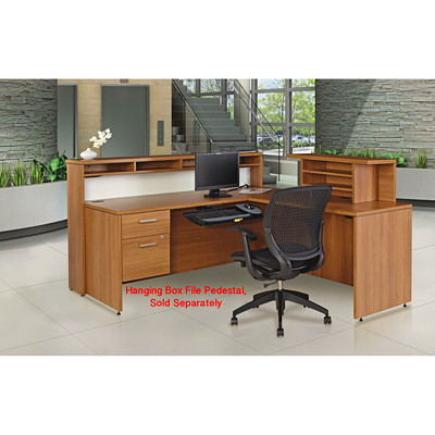 Offices To Go Ionic Reception Desk, Winter Cherry  WCR