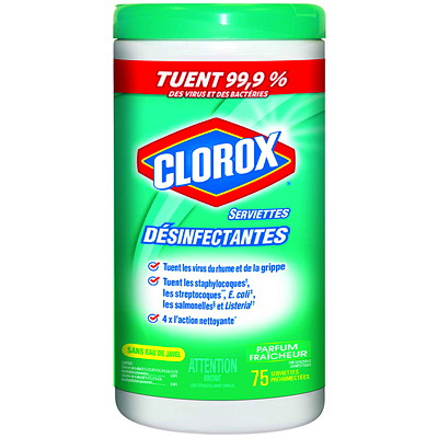 Clorox Commercial Solutions Disinfecting Wipes, Fresh Scent, 75/PK FRESH SCENT