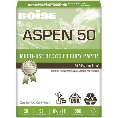 PAPIER ASPEN 50 8 5X11 92BR 20LB 500/PKG 50% CONTENU DE POST-CONSOM.