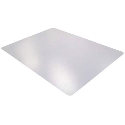 Tapis antistatique en PVC pour planchers durs Floortex, transparent, 46po x 60po PVC BASE LISSE POUR SOL DUR EN PVC SANS PHTALATE