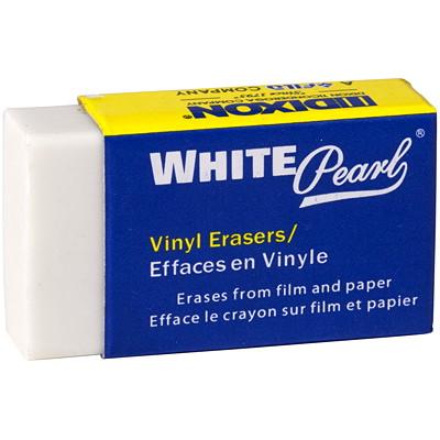 Dixon White Pearl Vinyl Block Erasers, 24/BX PMA CERTIFIED NON-TOXIC