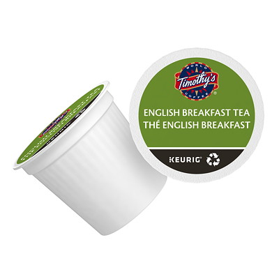 Timothy's English Breakfast Tea K-Cup Pods, Single-Serve, Box of 24 24/BX - USE IN KEURIG SINGLE CUP COFFEEMAKERS