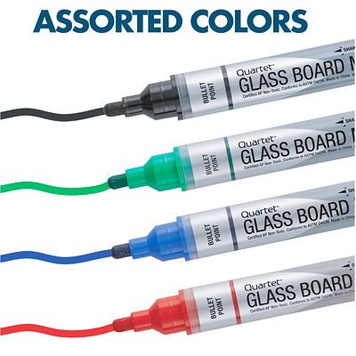 Quartet Premium Glass Dry-Erase Markers, Assorted Colours, 4/PK QUARTET PREMIUM MARKER