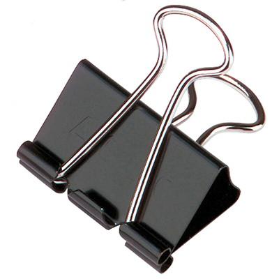 "Acco Fold-Back Binder Clips, Black/Silver, 1 1/4"" Medium, 12/PK 5/8"""