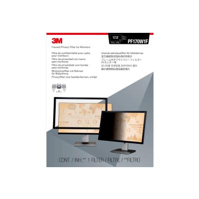 "3M Framed Privacy Filter for 17"" Widescreen Monitor (16:10) - display privacy filter - 17"" wide  ACCS"
