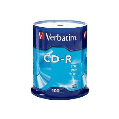 Verbatim - CD-R x 100 - 700 MB - storage media 700MB/80MIN.