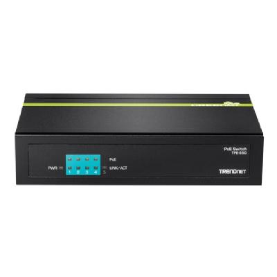 TRENDnet TPE S50 - switch - 5 ports - unmanaged 31W) Limited Lifetime Warranty