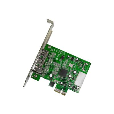 StarTech.com 3 Port 2b 1a 1394 PCI Express FireWire Card Adapter - 1394 FW PCIe FireWire 800 / 400 Card (PEX1394B3) - FireWire adapter - PCIe - 2 ports s to your computer through a P CI Express expansion