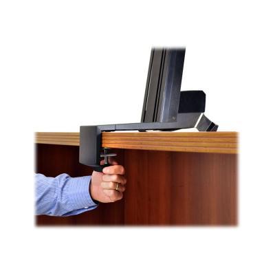 Ergotron WorkFit-S Dual Monitor Standing Desk Workstation - mounting kit - for 2 LCD displays / keyboard / mouse ht-adjustment column  desk cla mp  crossbar  two (2