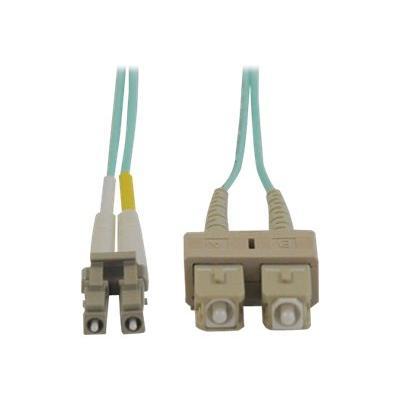 Tripp Lite 1M 10Gb Duplex Multimode 50/125 OM3 LSZH Fiber Optic Patch Cable LC/SC Aqua 3' 3ft 1 Meter - patch cable - 1 m - aqua blue M3 LSZH Fiber Patch Cable (LC/ SC) - Aqua  1M (3-ft