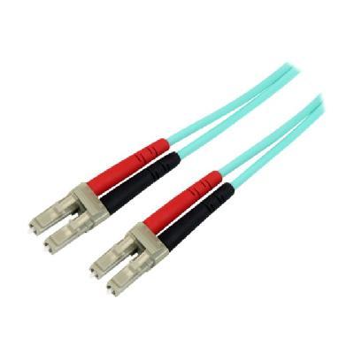 StarTech.com 10m Fiber Optic Cable - 10 Gb Aqua - Multimode Duplex 50/125 - LSZH - LC/LC - OM3 - LC to LC Fiber Patch Cable - patch cable - 10 m - aqua  CABL
