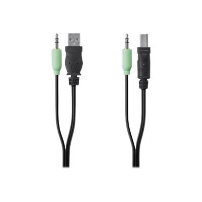 Belkin Secure KVM Cable Kit - USB / audio cable - TAA Compliant - 1.83 m  3.5mm AUDIO  6