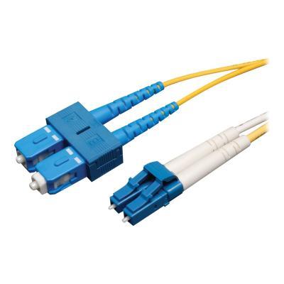 Tripp Lite 1M Duplex Singlemode 9/125 Fiber Optic Patch Cable LC/SC 3' 3ft 1 Meter - patch cable - 1 m - yellow r Patch Cable (LC/SC)  1M (3-f t.)