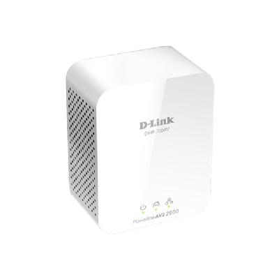 D-Link PowerLine AV2 2000 HD Gigabit Starter Kit DHP-701AV - bridge - wall-pluggable work Extender Kit; HomePlug AV 2 MIMO technology  u