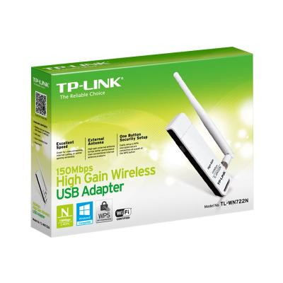 TP-Link TL-WN722N - network adapter - USB 2.0  Adapter  1 detachable antenna   2 years warranty