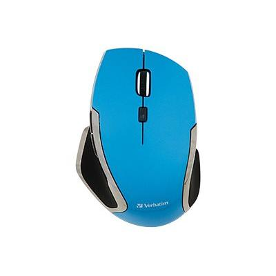 Verbatim Deluxe - mouse - 2.4 GHz - blue WIRELESS BLUE LED BLUE COLOUR