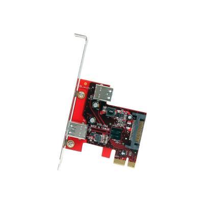 StarTech.com 2 port PCI Express SuperSpeed USB 3.0 Card with UASP Support - 1 Internal 1 External - Dual Port PCIe USB 3.0 Adapter (PEXUSB3S11) - USB adapter - PCIe 2.0 - 2 ports nal SuperSpeed USB 3.0 to your  PC - 2 port PCI Exp