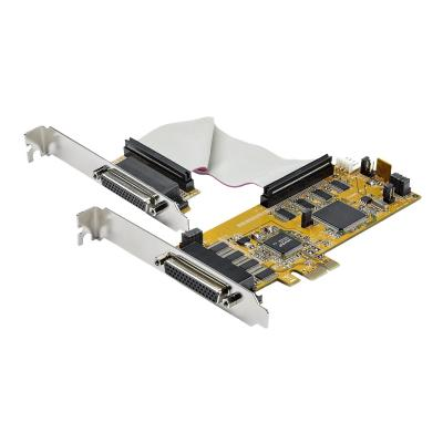StarTech.com 8-Port PCI Express RS232 Serial Adapter Card, PCIe RS232 Serial Card, 16C1050 UART, Low Profile Serial DB9 Controller/Expansion Card, 15kV ESD Protection, Windows/Linux - Full Profile Bracket Incl (PEX8S1050LP) - serial adapter - PCIe - RS-232 x 8 - TAA Compliant  CTLR