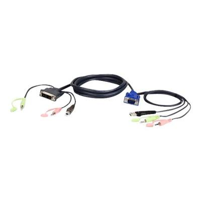 ATEN 2L-7DX3U - keyboard / video / mouse / audio cable - 3 m udio