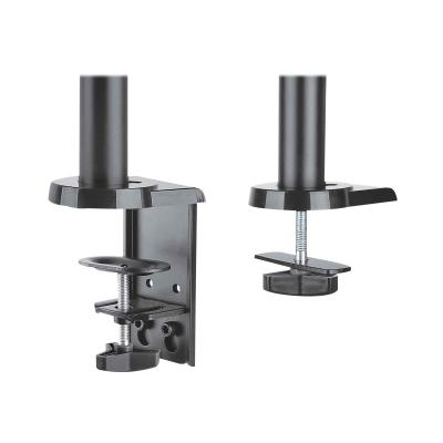 """Manhattan TV & Monitor Mount, Desk, Full Motion (Gas Spring), 2 screens, Screen Sizes: 10-27"""", Black, Clamp or Grommet Assembly, Dual Screen, VESA 75x75 to 100x100mm, Max 8kg (each), Lifetime Warranty - mounting kit - for 2 LCD displays upports Two 17in to 32in TVs o r Monitors up to 8 k"""