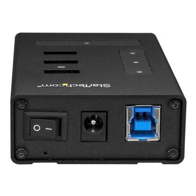 StarTech.com 4 Port USB Hub - USB A to 1 x USB C and 3 x USB A - Mountable - Industrial - Powered USB Hub - USB Port Expander - USB 3.0 Hub (HB30A3A1CST) - hub - 4 ports (Australia, Japan, New Zealand, United Kingdom, Europe, North Asia) BA & USBC