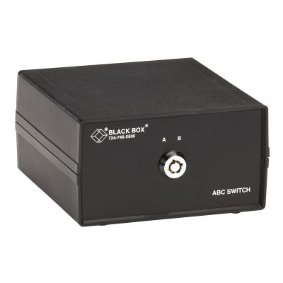 Black Box ABC DB25 Key-operated Lockable Switch - switch - 2 ports tch FFF Lockable