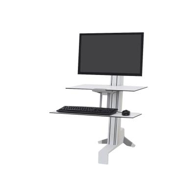 Ergotron WorkFit-S Single HD Workstation with Worksurface Standing Desk - mounting kit - for LCD display / keyboard / mouse KYD TRAY BRGHT WHTE